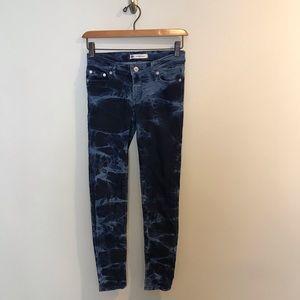 Levi's Girls 720 Skinny Dip Dye Blue Jeans 12R